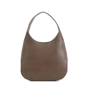 Καθημερινή τσάντα χειρός/ώμου καφέ 17534